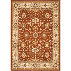Handmade Majesty Rust/ Beige New Zealand Wool Rug (5'3 x 7'6)