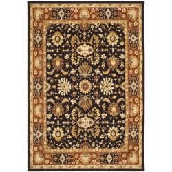 Safavieh Handmade Majesty Charcoal/ Rust New Zealand Wool Rug (5'3 x 7'6)