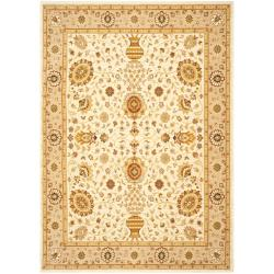 Handmade Majesty Ivory/ Beige New Zealand Wool Rug (5'3 x 7'6)