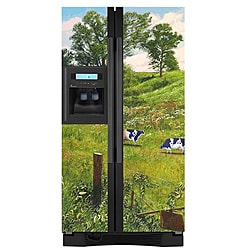 Appliance Art's Country Cow Refrigerator Cover