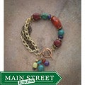 Vintage Metal and Gemstone Bracelet