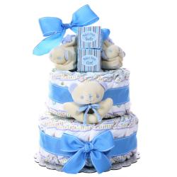 Boy's Two-tier Diaper Cake