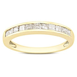10k Yellow Gold 1/2ct TDW Diamond Anniversary Ring (G-H, I2-I3)