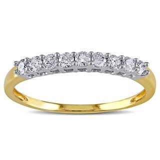 Miadora 14k Two-tone Gold 1/4ct TDW Diamond Anniversary Ring (G-H, I2-I3)