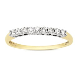 Miadora 14k Two-tone Gold 1/4ct TDW Diamond Anniversary Ring (G-H, I2-I3)