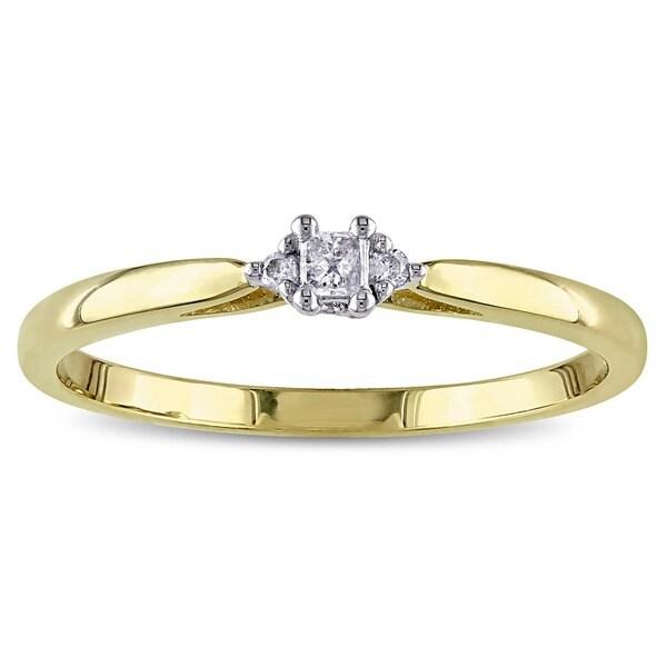 Miadora 10k Two-tone Gold Solitaire Diamond Promise Ring