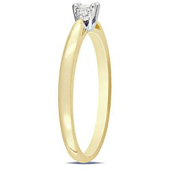 Miadora 10k Two-tone Gold Solitaire Diamond Ring