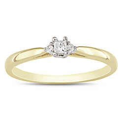 Miadora 10k Two-tone Gold Solitaire Diamond Promise Ring