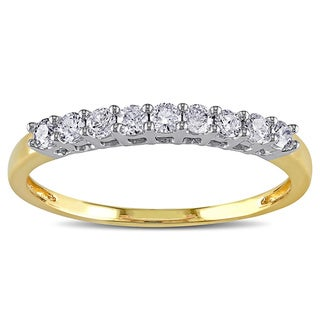 Miadora 10k Gold 1/4ct TDW Diamond Wedding Band (G-H, I2-I3)