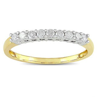 Miadora 10k Two-tone Gold 1/4ct TDW Diamond Anniversary Ring (G-H, I2-I3)