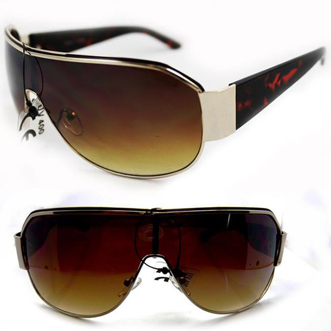Unisex 11182 Leopard Shield Sunglasses