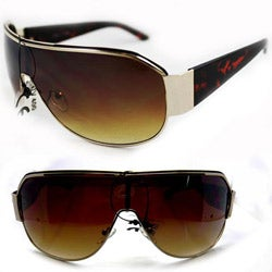 Unisex 11182 Leopard Shield Sunglasses