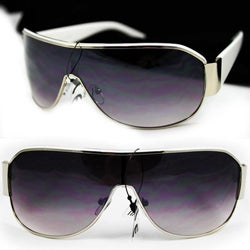 Unisex 11182 White Shield Sunglasses