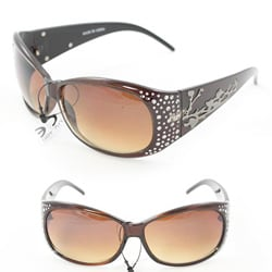 Women's P2089 Brown Round Sunglasses