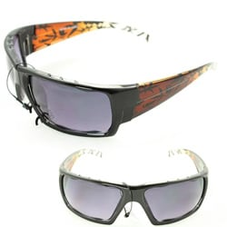Men's Brown Wrap Fashion Sunglasses