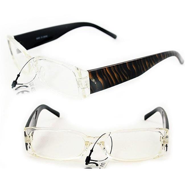 Unisex P1508 Gold Zebra Square Sunglasses