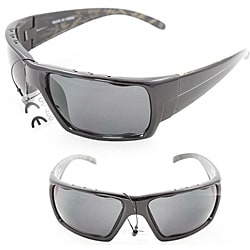 Men's Black Wrap Fashion Sunglasses