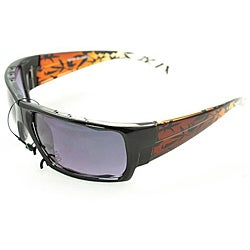 Men's Two-tone Wrap Fashion Sunglasses