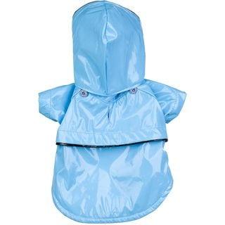 Pet Life Extra Small Blue Hooded Raincoat