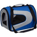 Pet Life Medium Airline Approved Blue Mesh Pet Dog Carrier Crate