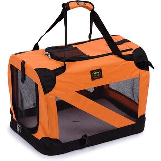 Pet Life 360-degree View Orange Pet Dog Carrier Crate
