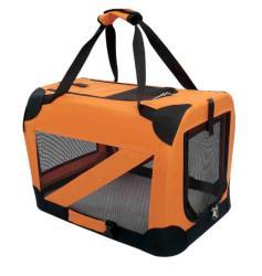 Pet Life Medium 360-degree View Orange Pet Dog Carrier Crate