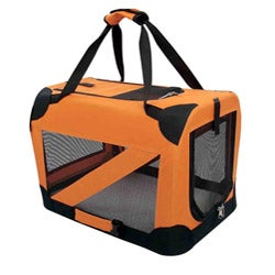 Pet Life Medium 360-degree View Orange Pet Dog Carrier Crate