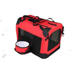 Pet Life Small 360-degree View Deluxe Red Pet Carrier