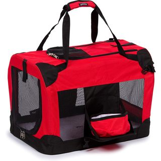 Pet Life Medium 360-degree View Deluxe Red Pet Carrier