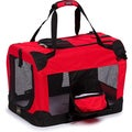 Pet Life Extra Large 360-degree View Deluxe Red Pet Carrier