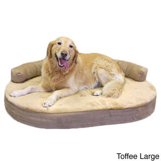 Orthopedic Memory Foam Joint Relief Bolster Dog Bed (MED - XL)