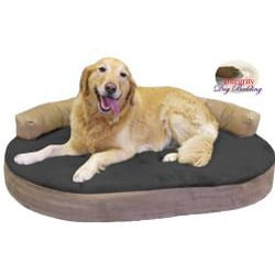 Large Orthopedic Memory Foam Joint Relief Bolster Dog Bed