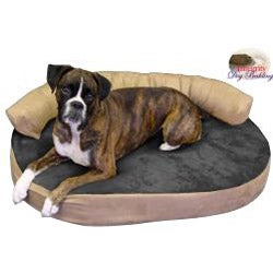 Medium Orthopedic Memory Foam Joint Relief Bolster Dog Bed