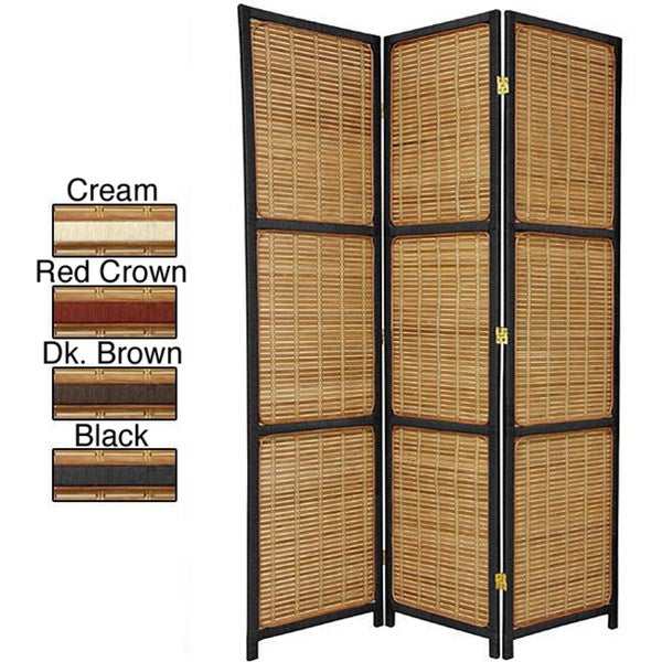 Woven Wood 6-foot Accent Room Divider (China)