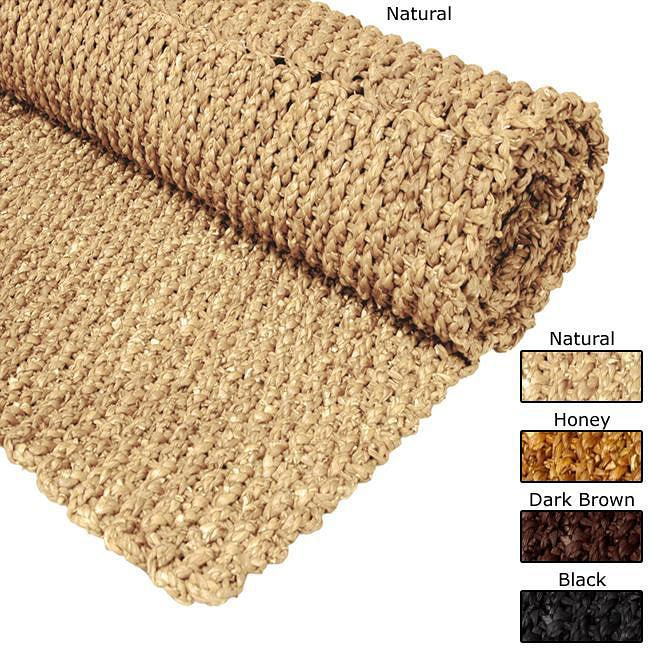 Asian Woven Rush Grass Area Rug (5' x 8')
