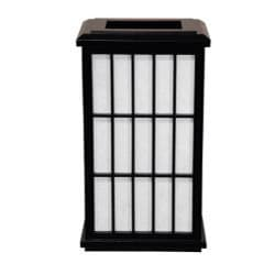 Wood 13.5-inch Japanese-style Window Pane Black Wall Sconce (China)