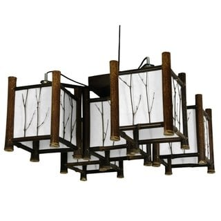 Bamboo Watashi Japanese-style 5-light Hanging Lantern (China)