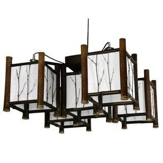 Bamboo Watashi Japanese-style 5-light Hanging Lantern (China)