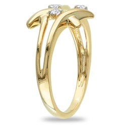 Miadora 10k Yellow Gold 1/10ct TDW Diamond Ring (G-H, I2-I3)