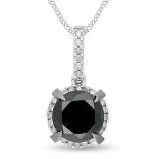 Miadora 10k White Gold 2 3/4ct TDW Diamond Necklace (G-H, I2-I3)