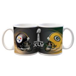 Super Bowl XLV 11-oz Dueling Helmets Ceramic Mug