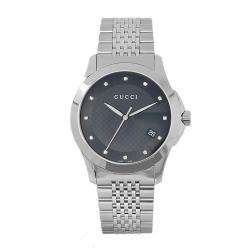 Gucci Men's Timeless Stainless Steel Black Dial Watch