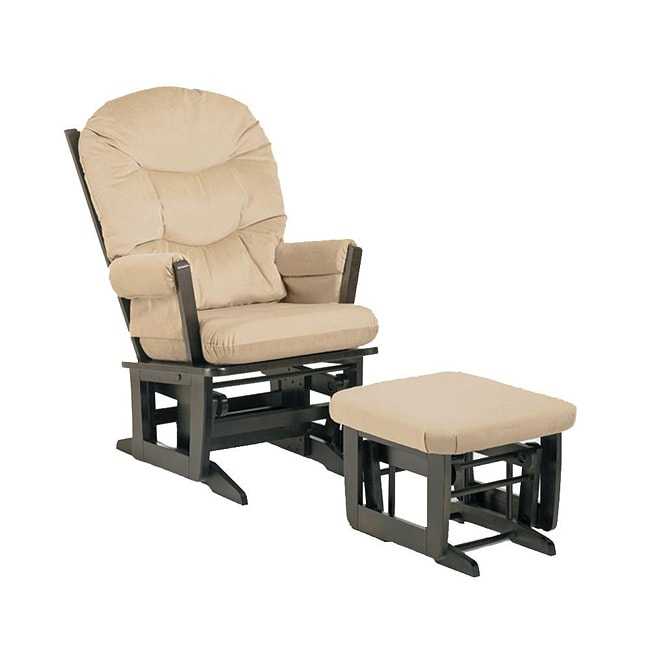 Dutailier Ultramotion Beige Microfiber Glider Chair/ Ottoman Set ...