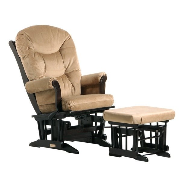 Dutailier Ultramotion Multi-position Light Brown Microfiber Glider Chair/ Ottoman Set