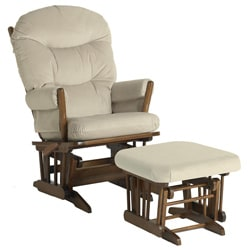 Dutailier Ultramotion Wood Glider and Ottoman