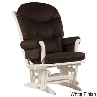 Dutailier Ultramotion Espresso Wood Glider with Foam Cushions