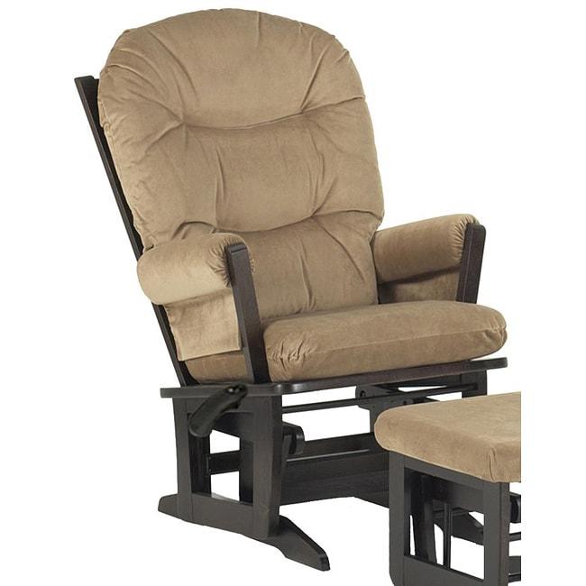 Dutailier ultramotion modern light brown microfiber glider chair