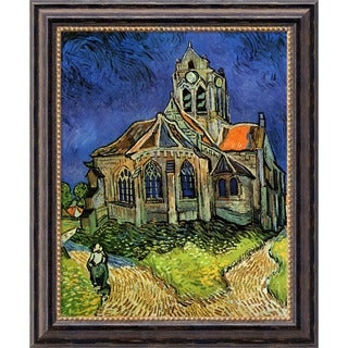 Vincent Van Gogh 'Church at Auvers' Framed Canvas Art