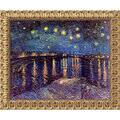 Vincent Van Gogh 'Starlight Over the Rhone' Framed Canvas Art