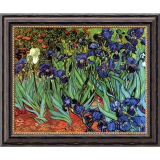 Vincent van Gogh 'Irises In The Garden' Framed Art Canvas 24 x 20-inch